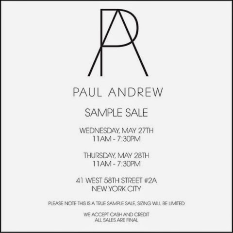 Upcoming Sample Sales