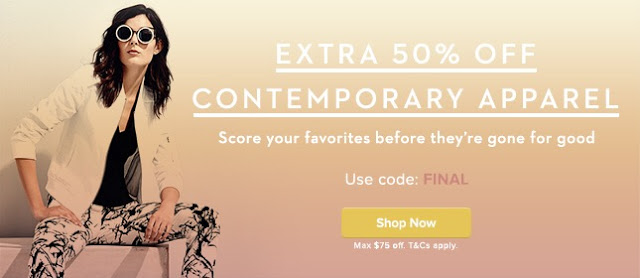 Online Deal – Gilt Extra 50% Off