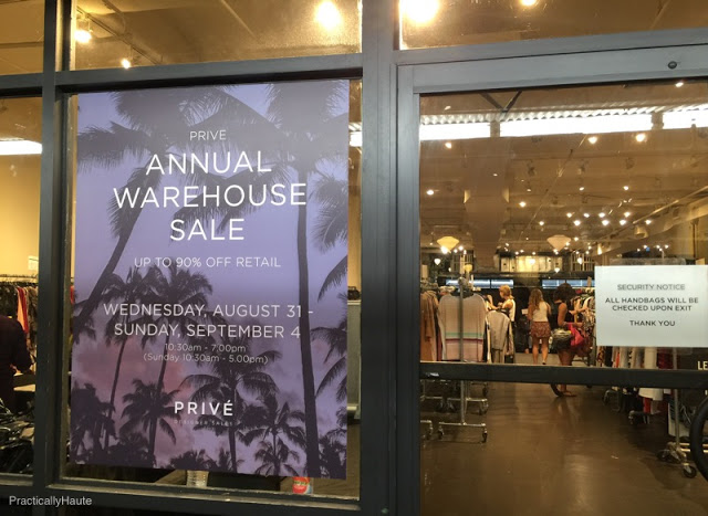 Prive Multi-Designer Warehouse Sale