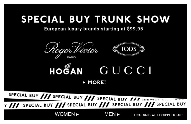 Online Deal – DSW Luxury Designer Shoes