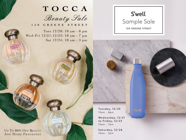 Sample Sale – Tocca And S'Well