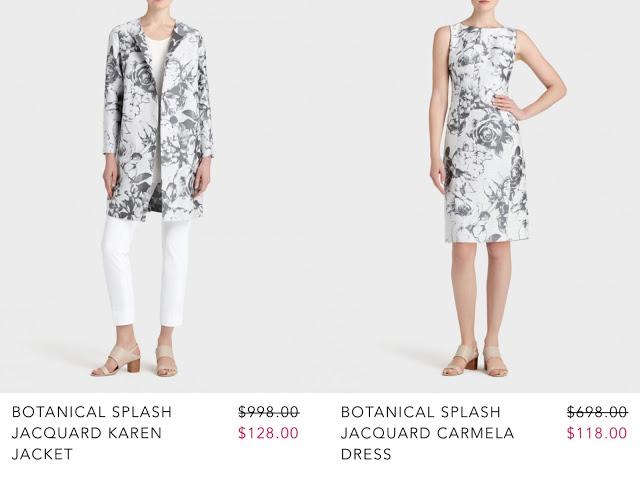 Women's jacquard dress and coat