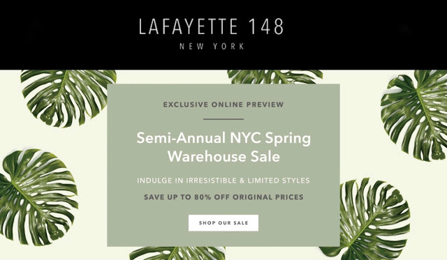 Online Deal – Lafayette 148 Warehouse Preview