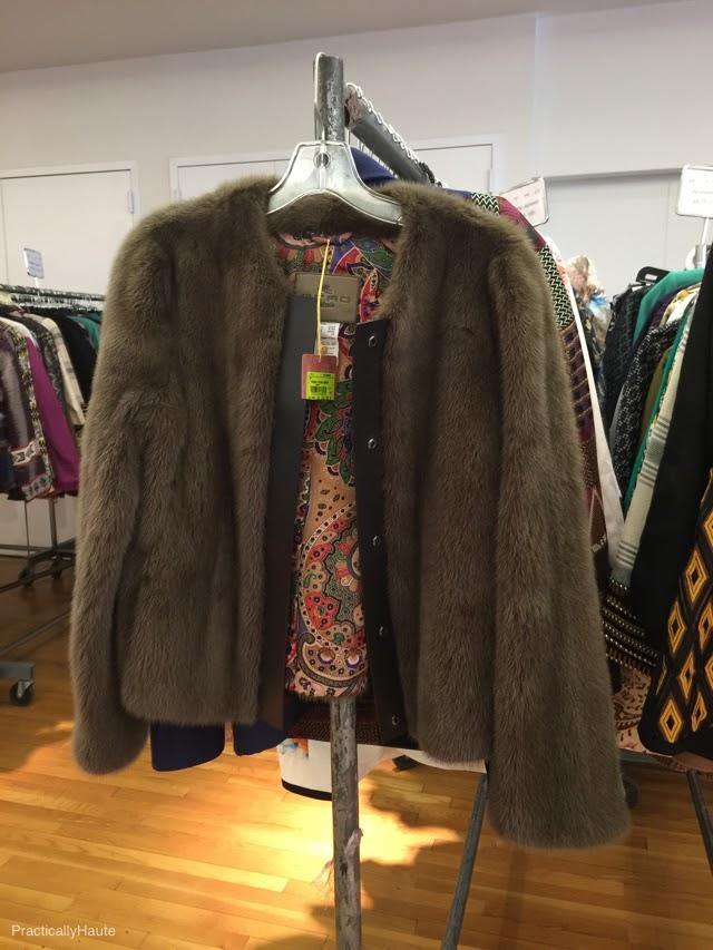 Etro sample sale fur jacket