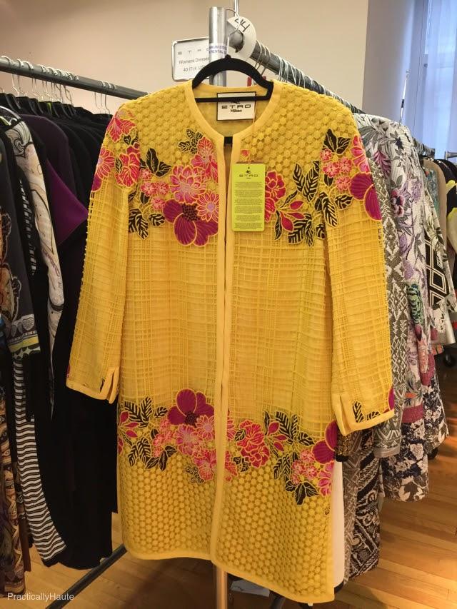 Etro sample sale yellow coat