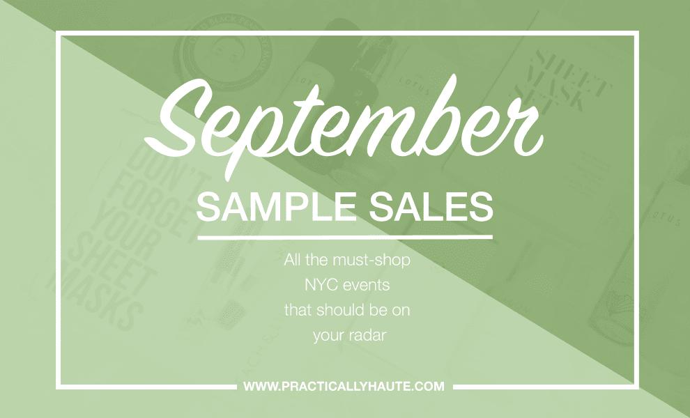 September Sample Sale Roundup