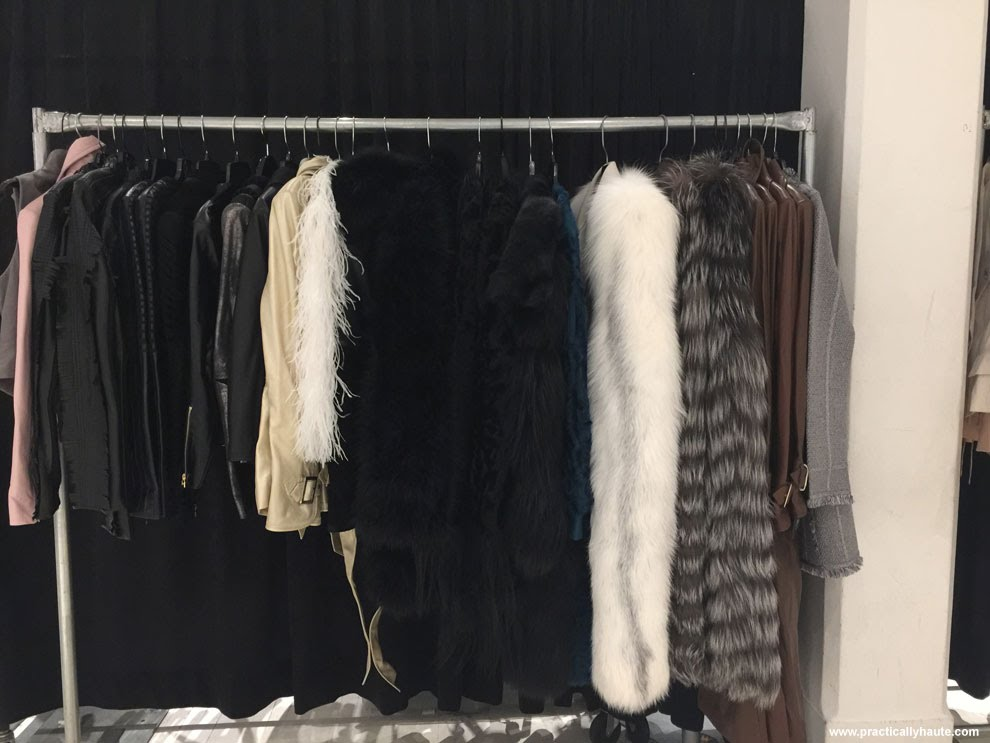 Herve Leger sample sale fur coats