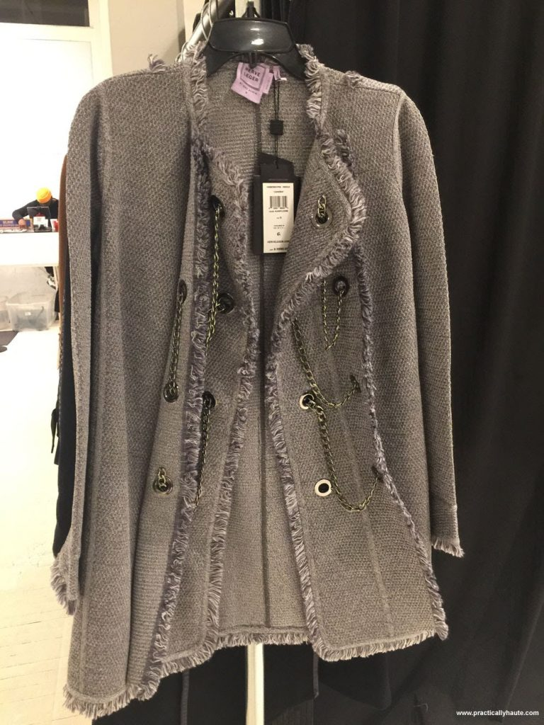 Herve Leger sample sale embellished heavy jacket