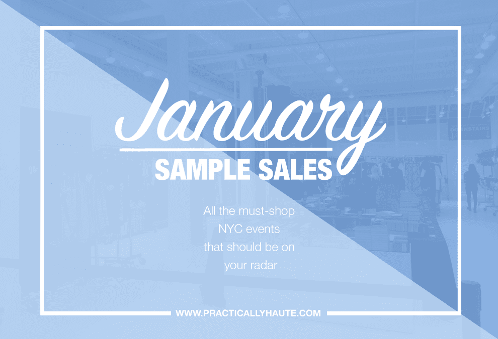 January 2018 Sample Sales