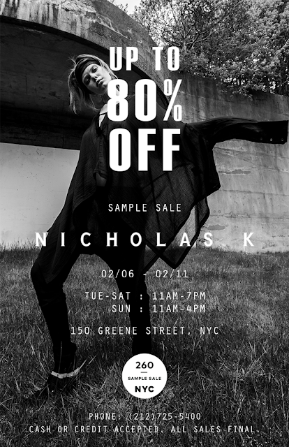sample sale Nicholas K