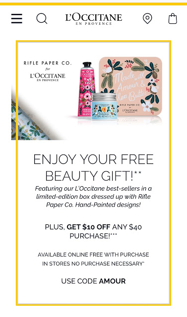 l'occitane freebie offer