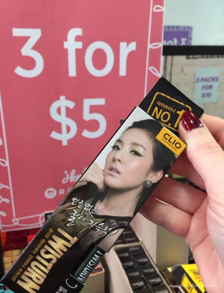 jknlee kbeauty sample sale twisturn eyeliner clio