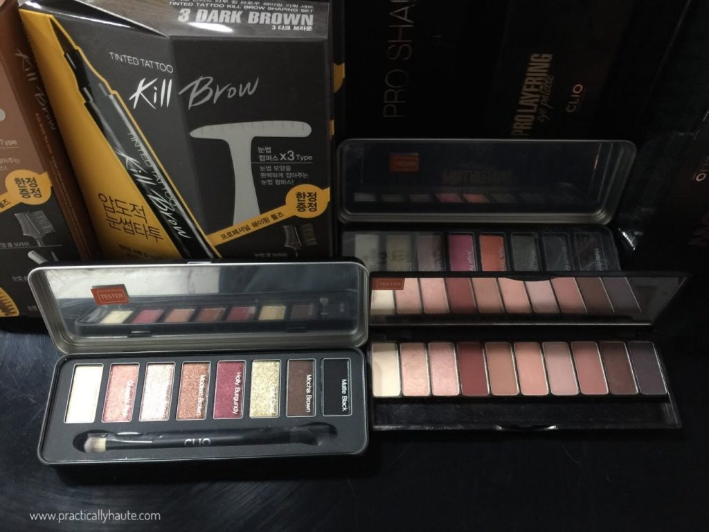 jknlee kbeauty sample sale clio eye palette