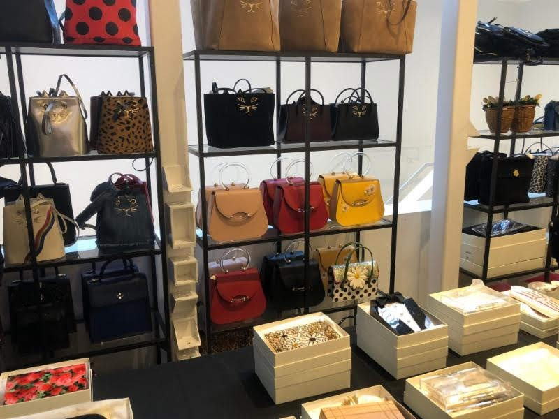 Charlotte Olympia sample sale Feline leather bags