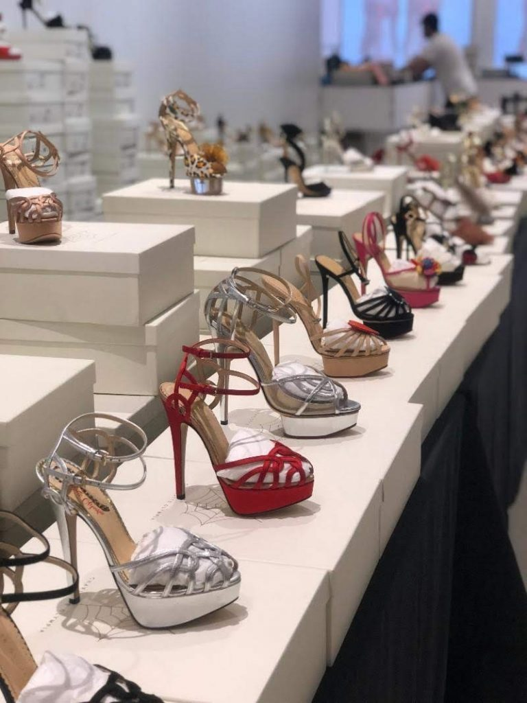 Charlotte Olympia sample sale sky high heels