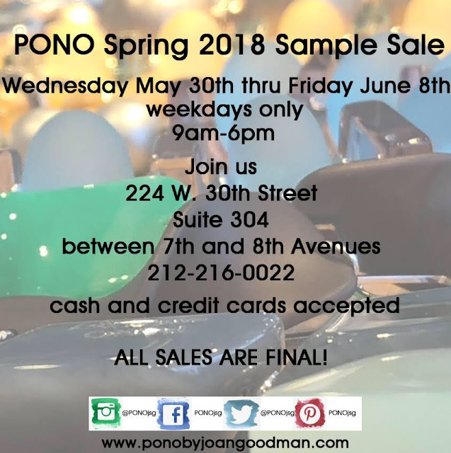 PONO by Joan Goodman sample sale