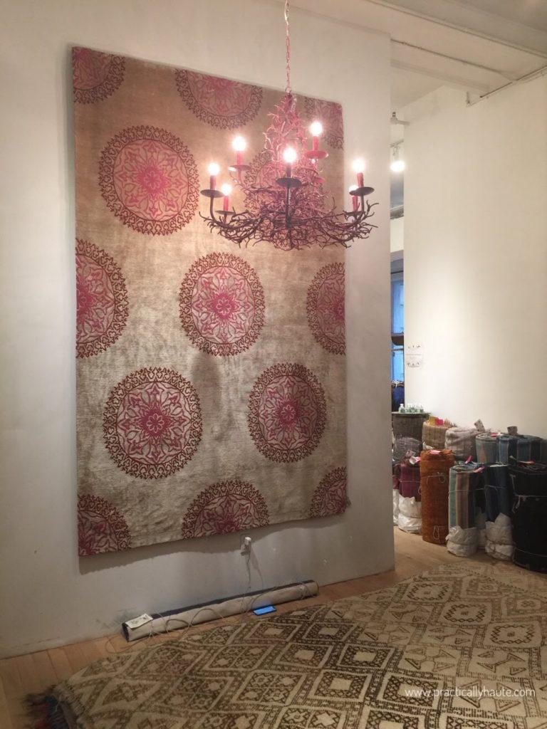 Madeline Weinrib sample sale Tibetan carpet