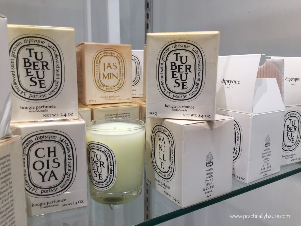 Diptyque sample sale Tubereuse candles
