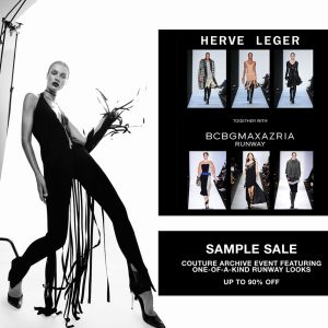herve léger sample sale