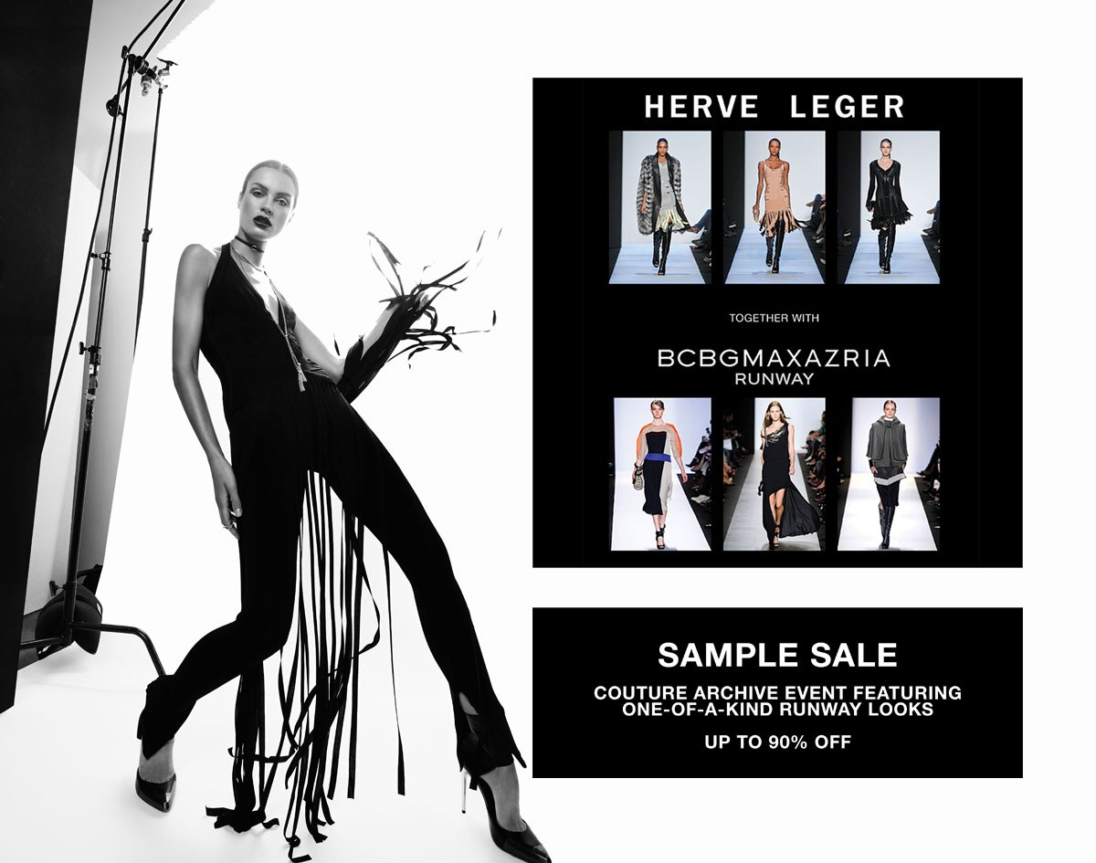 Hervé Léger Sample Sale Brings In Even More Bargains!