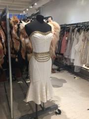Herve Leger sample sale white dress