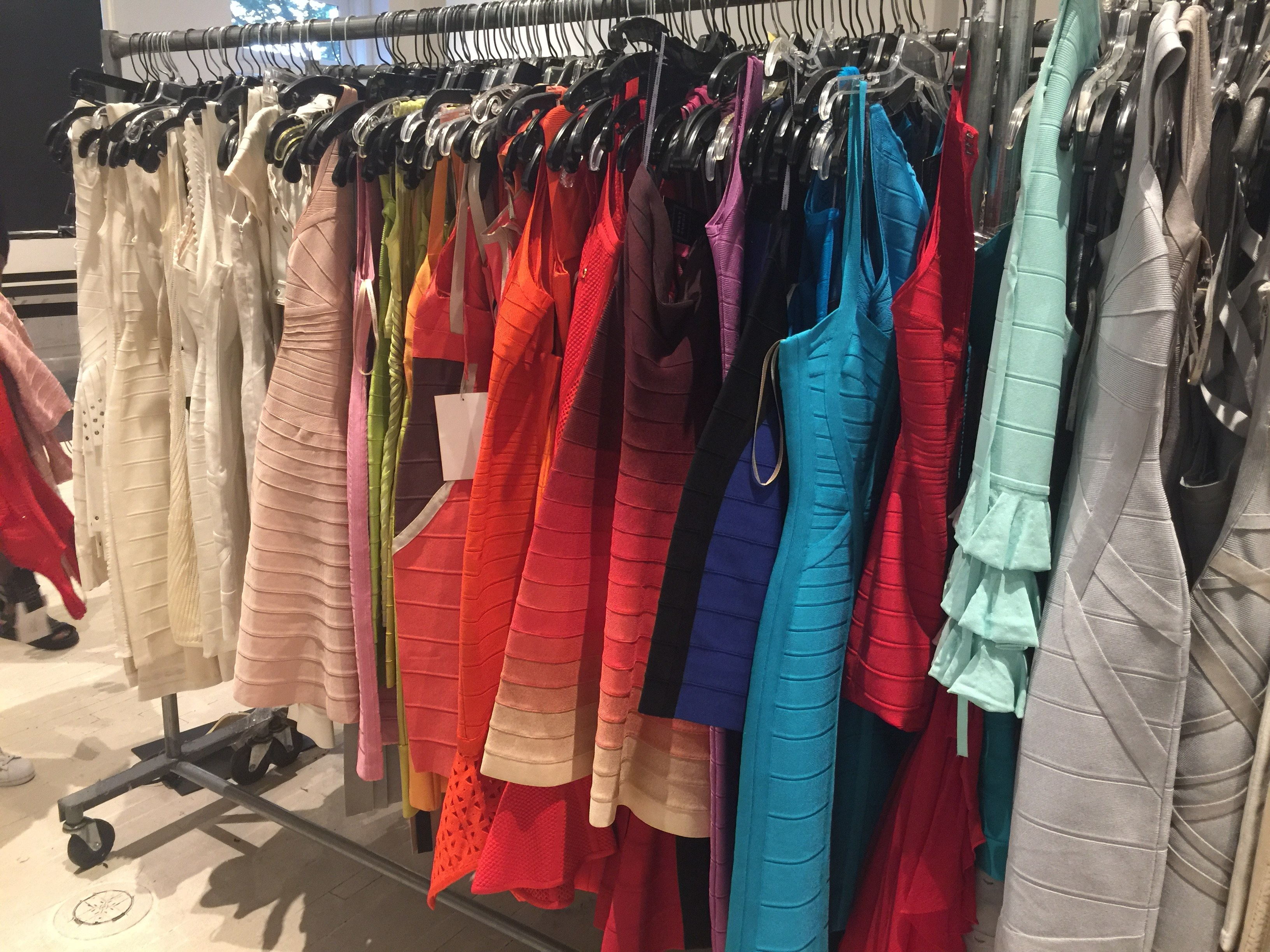 Herve Leger sample sale dresses