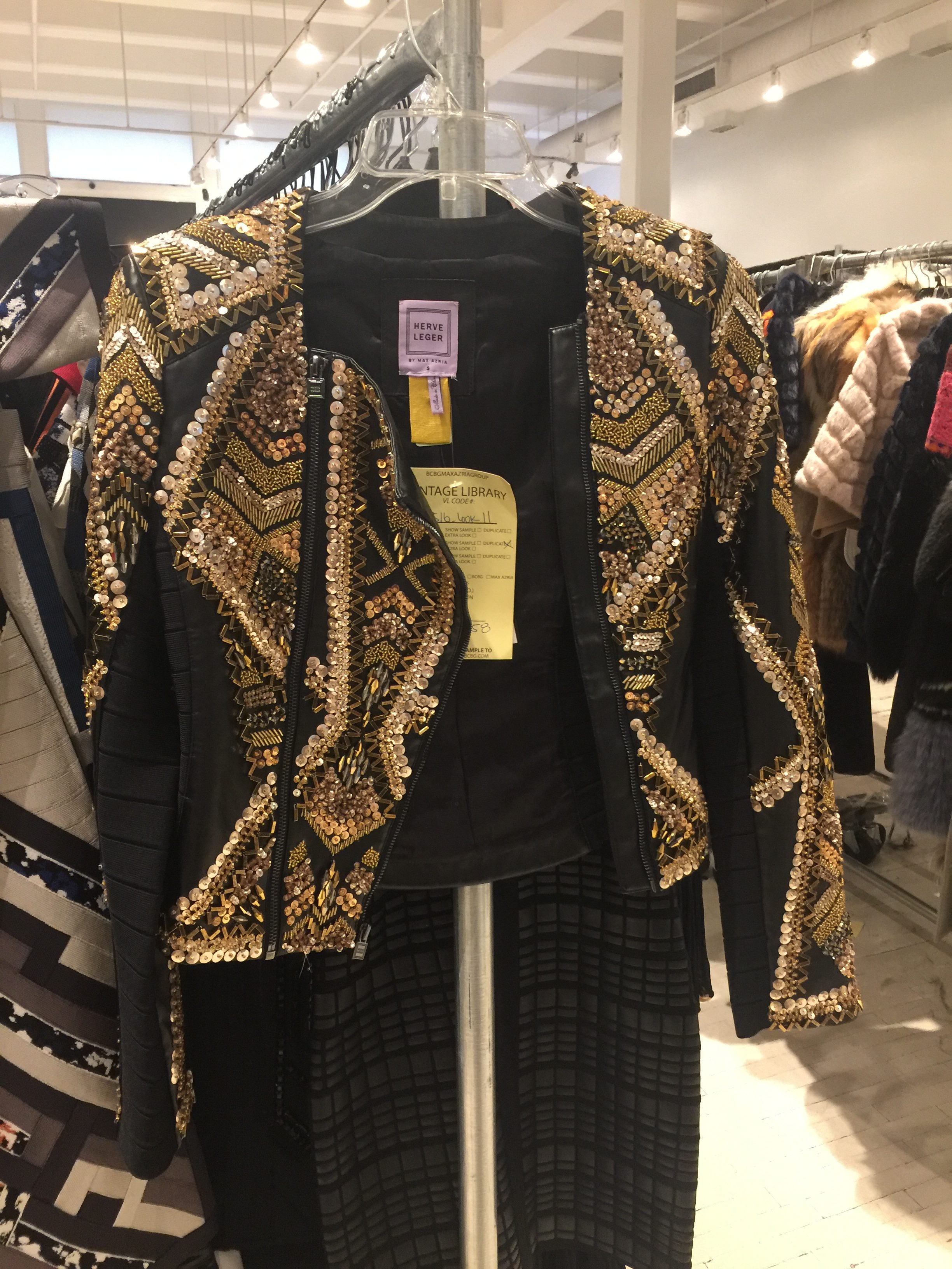Herve Leger sample sale jacket