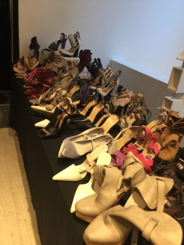 Herve Leger sample sale shoes