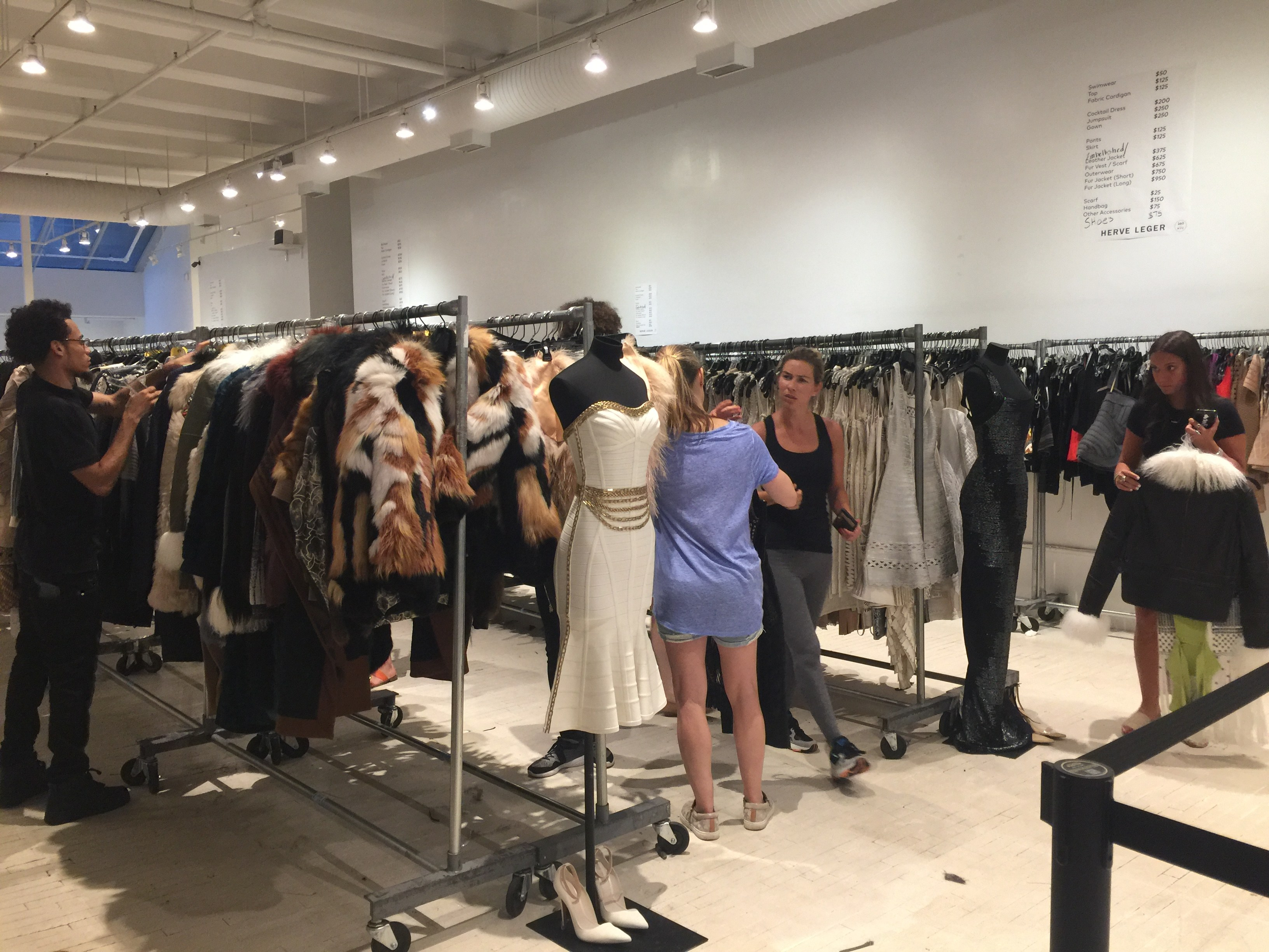 Herve Leger sample sale