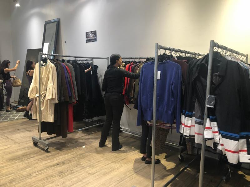 LXR & Co sample sale clothing