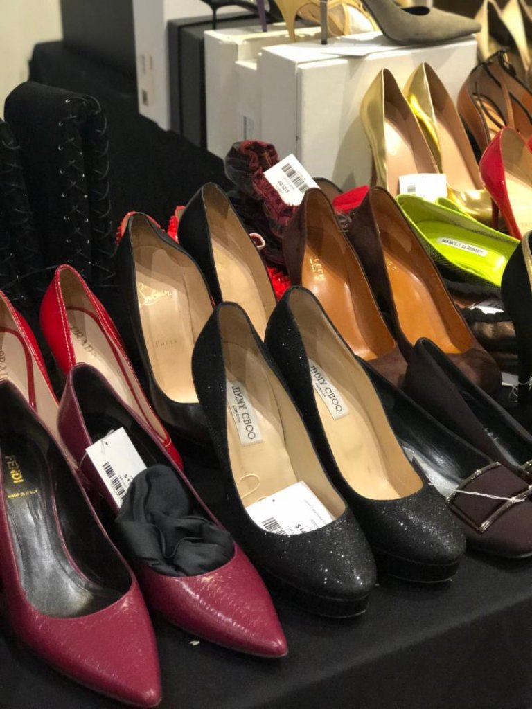 LXR & Co sample sale designer luxury shoes heels
