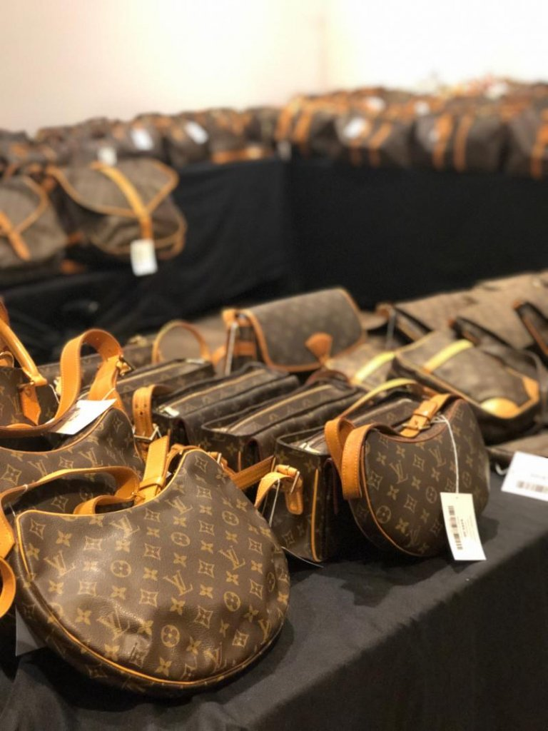 LXR and Co sample sale Vuitton bags