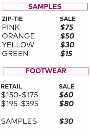 Rebecca Minkoff sample sale price list