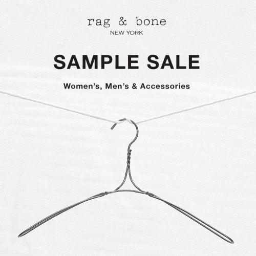 rag and bone sample sale nyc