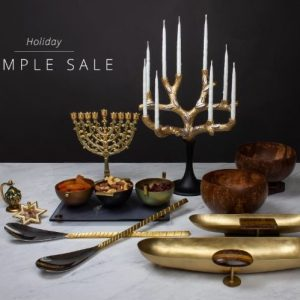 Quest Collection holiday Hanukkah home decor sample sale